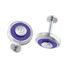 JETON REVERSIBLE CUFFLINKS PURPLE