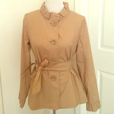 Jcrew light tan jacket Lightweight Jcrew jacket. Great for summer, spring and fall! J. Crew Jackets & Coats