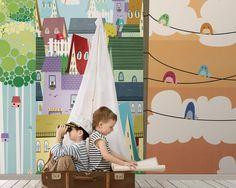 Wallpaper Model GRACE Designed by Alba Ferrari for Kids Collection 15 | © London Art 2015  www.londonartwallpaper.com www.londonart.it