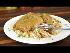 Smothered pork chops recipe soul food recipe cooking with carolyn. Easy Pork Chop Recipes, Pork Recipes, Fall Recipes, Healthy Dinner Recipes, Cooking Recipes, Smothered Pork Chops Recipe, Pork Chops And Gravy, Smothered Chicken, Southern Recipes