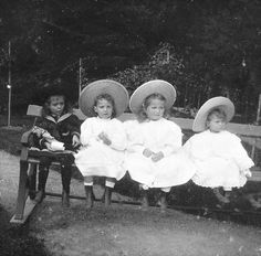 """Princess Irina Alexandrovna, Princess Margaret of Denmark, Grand Duchess Olga and Grand Duchess Tatiana  """