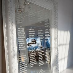 Mirror seating display | Amelia Panico Photography | www.theknot.com