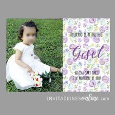 Estampa recordatorio de Bautizo #bautizo #detallesbautizo #bateig #bebes #nacimiento #detallesparainvitados #invitacionesbautizo #papelypapel #invitacionesonline
