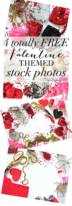 free valentine craft themed styled stock photos