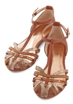 No Strings Flat. Theres no catch to wearing these leather T-straps by Seychelles - only cuteness! #brown #modcloth