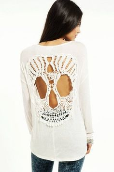 Black And White Skull Blouse 109