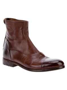 Alberto Fasciani Leather Boot  I just love this style! Perfect with worn jeans and a sloppy sweater.