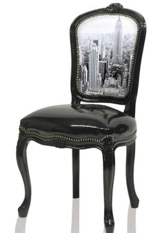 Baroque Chair With Photographic Back--DIYable