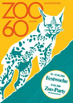 Zoo Magdeburg 60 Jahre – poster illustration by Theresa Grieben