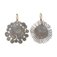 Judy Geib Silver Flowery Earrings at Barneys.com - Exclusively Ours! Oxidized silver flat flowery dangling earrings.