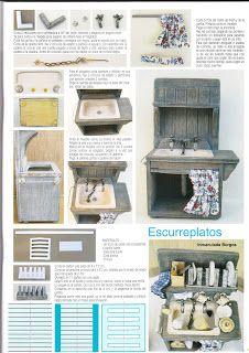 Artes em Miniatura: Moveis de Cozinha