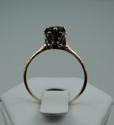 14K Yellow Gold Antique Edwardian Era Ring with a 1.15 ct Ruby Red Spinel by rubylanejewelers on Etsy https://www.etsy.com/listing/200782863/14k-yellow-gold-antique-edwardian-era
