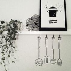 Vinyl - köksredskap Home Decor, Decoration Home, Room Decor, Interior Design, Home Interiors, Interior Decorating