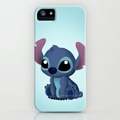 Chibi Stitch iPhone & iPod Case by Katie Simpson  - $35.00 Ever since I drew Chibi Toothless I have been wanting to draw one of Stitch. I can't get over how much those two look a like.    (Disney Lilo and Stitch, Alien, 626, experiment 626, vector, fan art, Katie Simpson, Redhead-K, Chibi's, cute, funny, love, Ohana, Ohana means family. Family means nobody gets left behind or forgotten.)