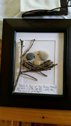 Bird Pebble Art