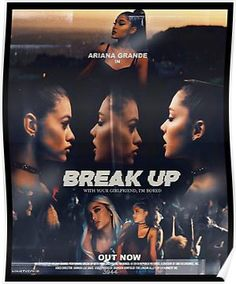 """""""Break Up With Your Girlfriend, I'm Bored"""", Ariana Grande Ariana Grande Poster, Ariana Grande Fotos, Ariana Grande Wallpaper, Hannah Lux Davis, Nickelodeon, Tour Posters, Movie Posters, Dangerous Woman, Im Bored"""