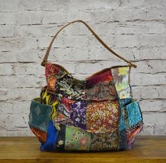 Kantha Quilt, Quilts, Craft Bags, Patchwork Bags, Fabric Remnants, Beautiful Bags, Handmade Bags, Pouches, Wallets
