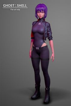 ArtStation - Ghost in the shell WIP, Olya Anufrieva Zbrush Character, 3d Model Character, Female Character Design, Character Modeling, Character Art, 3d Modeling, Cyberpunk Anime, Cyberpunk Art, Girl Inspiration