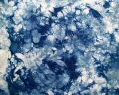 Indigo geverfd Shibori stof katoen Fat quarter door CapeCodShibori