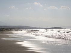Rethymno's Long sandy beach  Crete, Greece