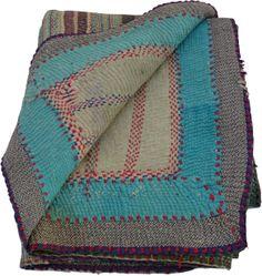 Vintage kantha quilt @ Sinha-Paye.com