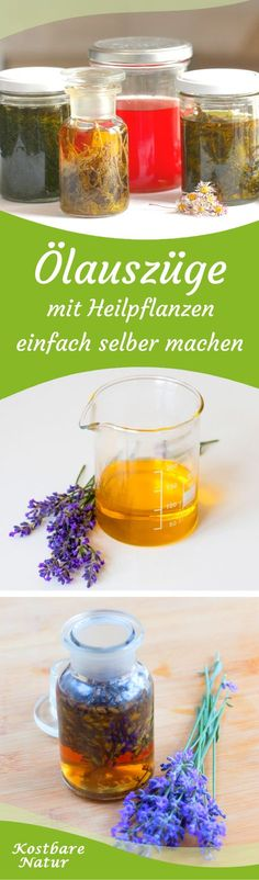 Heilende Ölauszüge selber machen – das musst du wissen With your favorite medicinal plants and wild herbs, you can easily make an oil extract and use it for massages, salves or lotions. Advantages Of Green Tea, Diy Beauté, Skin Care Masks, Healing Oils, Summer Skin, Beauty Recipe, Medicinal Plants, Natural Cosmetics, Tea Recipes