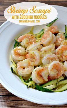 Shrimp Scampi with Zucchini Noodles- healthy shrimp scampi served with zucchini noodles. Real ingredients, real good! Plus 10 Succulent Shrimp Scampi Recipes!