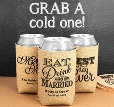 Can Wedding Koozies   Can Wedding Coolers