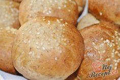 Nejjemnější jednoduché domácí rohlíky | NejRecept.cz Russian Recipes, Bread Recipes, Bakery, Catering, Potatoes, Vegetables, Cooking, Blog, Polish