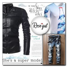 """Rosegal"" by aida-ida ❤ liked on Polyvore featuring men's fashion and menswear"