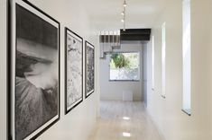 hallway - large artworks that work together
