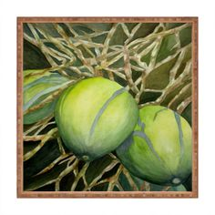 Rosie Brown Coconuts Cuddling Square Tray | DENY Designs Home Accessories  #tray #homedecor #kitchen #table #art #abstract #denydesigns #denyholiday