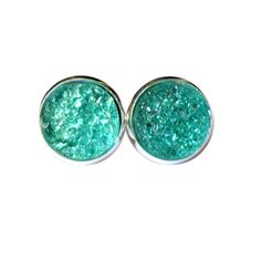 Sea Green Faux Druzy Earrings Handmade earrings with sea green faux druzy charms. Bundle 3 pairs for $12, comment with your choices or create a bundle to get discount. ❤️. Customer photos shown for size comparison only. Handmade Jewelry Earrings