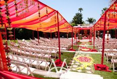 Indian Wedding Ceremony Decorations Red and Orange