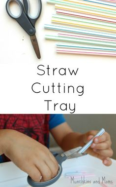 """Practicing scissor skills is anything but boring when you introduce this cutting tray! With each snip comes a surprise little """"pop"""" at the end!"""