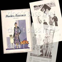 1920s Digital Download Vintage Modes et Travaux 1928 by DontSassMe