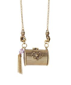 Another great find on #zulily! Goldtone Purse Pendant Necklace #zulilyfinds