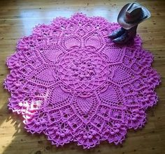 (4) Name: 'Crocheting : Pineapple Song Doily / Rug Pattern
