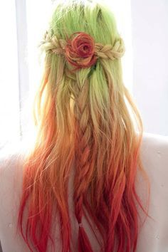 Chloe Norgaard's hair during fashion week