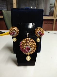#newarrivals#pendant#earrings#18kt#gold#diamondmore details#contact:-7878774772