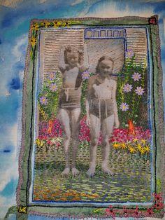Enhanced photo on linen.