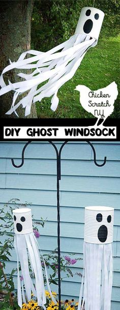 DIY Tin Can Ghost Windsock