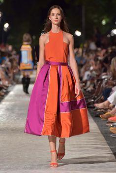 Orange and purple wide striped, quilted midi skirt Wide Stripes, Orange And Purple, Midi Skirt, Skirts, Collection, Fashion, Moda, Fashion Styles, Fashion Illustrations