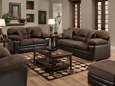 Since I am picking up a brown couch and 2 brown/tan recliners tomorrow...need to start looking for color scheme ideas.