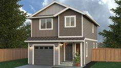 Town House Home Plan - Multi-Level, Two Story Home Built On Your Lot. Fully Customizable Floor Plan with Quality Home Features.