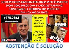 #NÃOVOTO, #ABSTENÇÃO