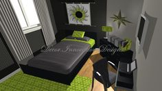 Love these colors for boys room Lime Green Rooms, Green Boys Room, Boys Bedroom Decor, Bedroom Green, Bedroom Ideas, Boy Room Paint, Game Room Design, Teen Boys, Tween
