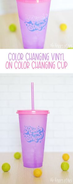Create this fun Color Changing Vinyl on Color Changing Cup project in just a few easy steps! It's magical to watch the colors change! Vinyl Projects, Fun Projects, Vinyl Designs, Shirt Designs, Kinds Of Colors, Fun Cup, Happy Colors, Have Some Fun, Adhesive Vinyl