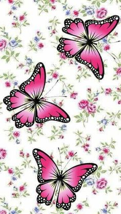 Flower Phone Wallpaper, Butterfly Wallpaper, Wallpaper Iphone Cute, Cellphone Wallpaper, Wallpaper Backgrounds, Iphone Wallpaper, Paper Butterflies, Beautiful Butterflies, Beautiful Flowers