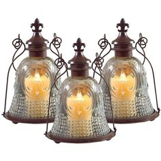 Set of 3 Vintage Style Fleur-de-Lis Candle Lanterns ($140) ❤ liked on Polyvore featuring home, home decor, candles & candleholders, candles, home accessories, outdoor candles, outdoor lanterns, outdoor home decor, outdoor pillar candles and outside lanterns